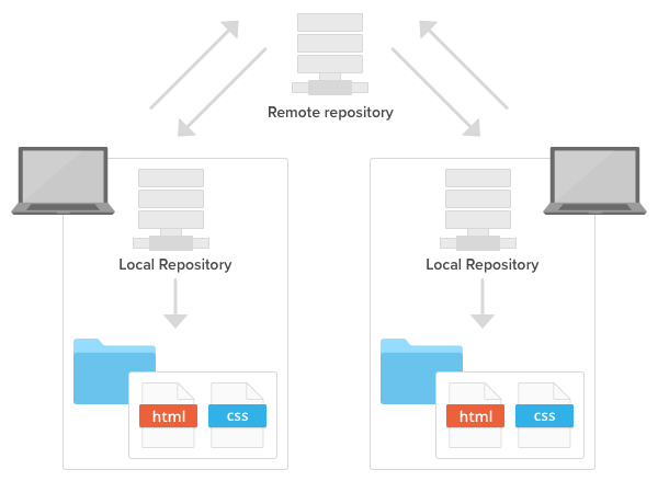 Remote repositories and local repositories