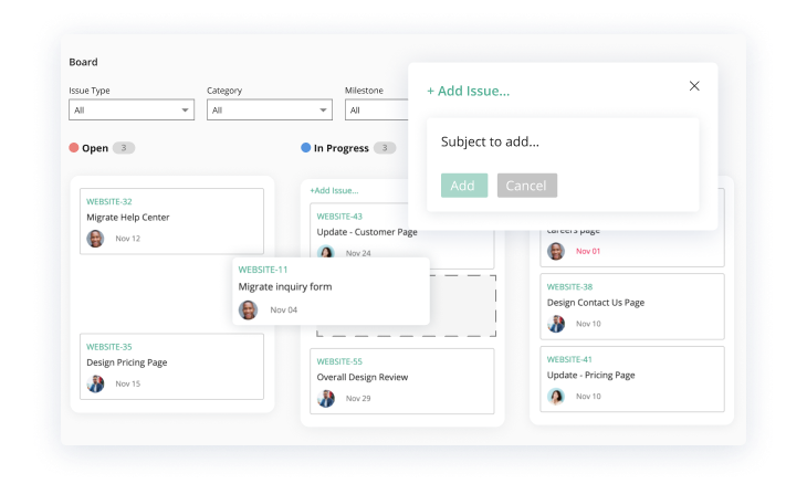 Add & update tasks quickly image