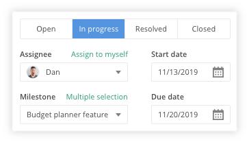 Set issue status