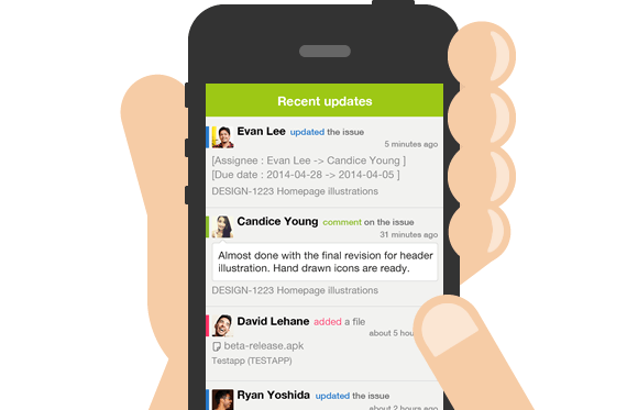 Get your Backlog updates on the move with the Backlog iPhone app