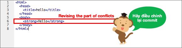 Nội dung sau khi đã giải quyết hết xung đột