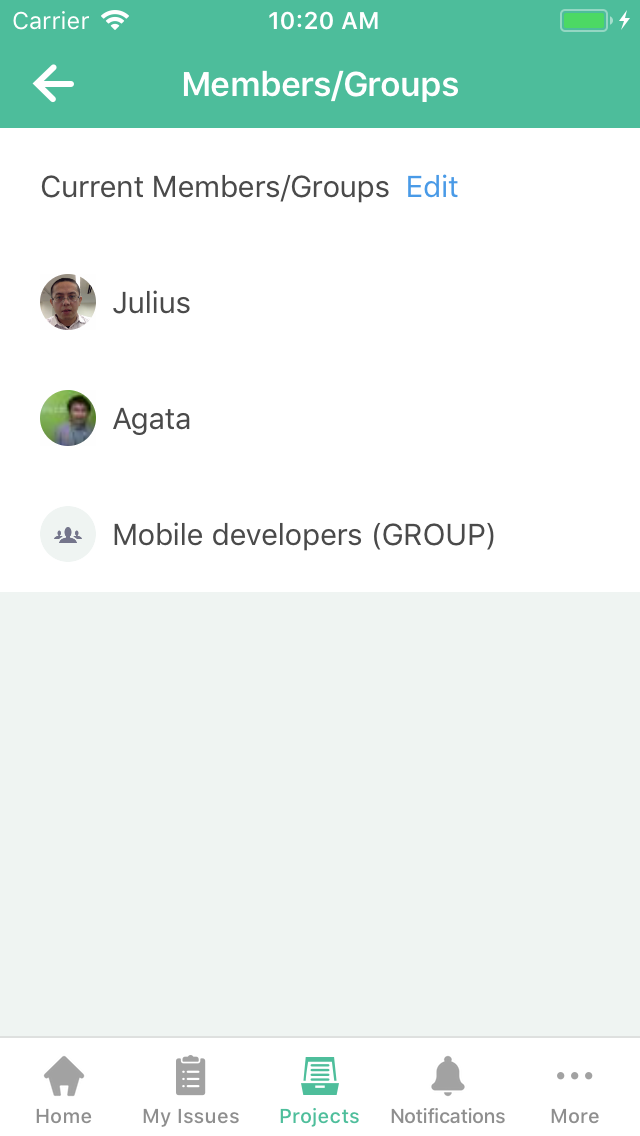 Add/remove groups