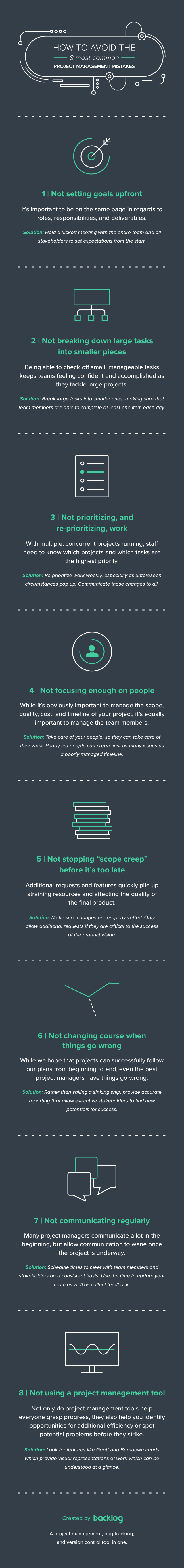 Infographic How to avoid the 8 most commong project management mistakes