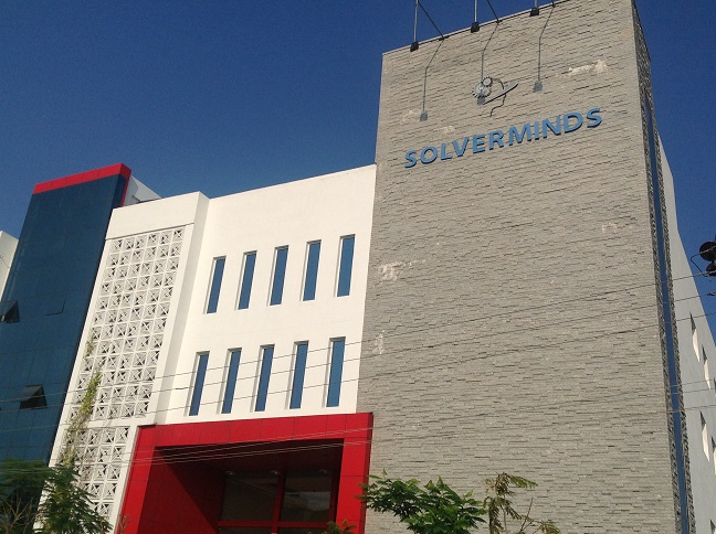 Solverminds building at Chennai, India.