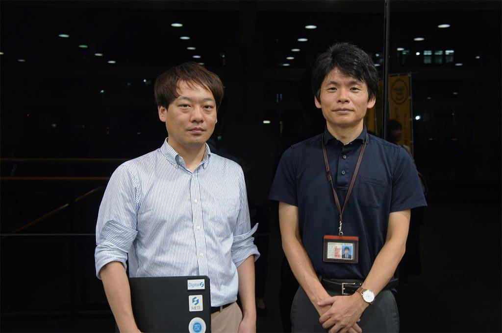 Photo of Deputy Director Hiroki Yoshida and Digital Promotion Manager Daisuke Hayashi