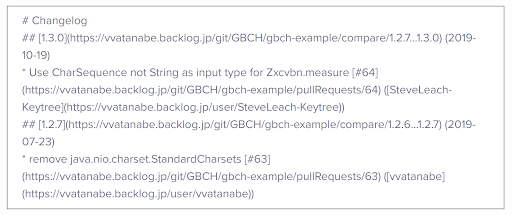 Markdown text example from gbch