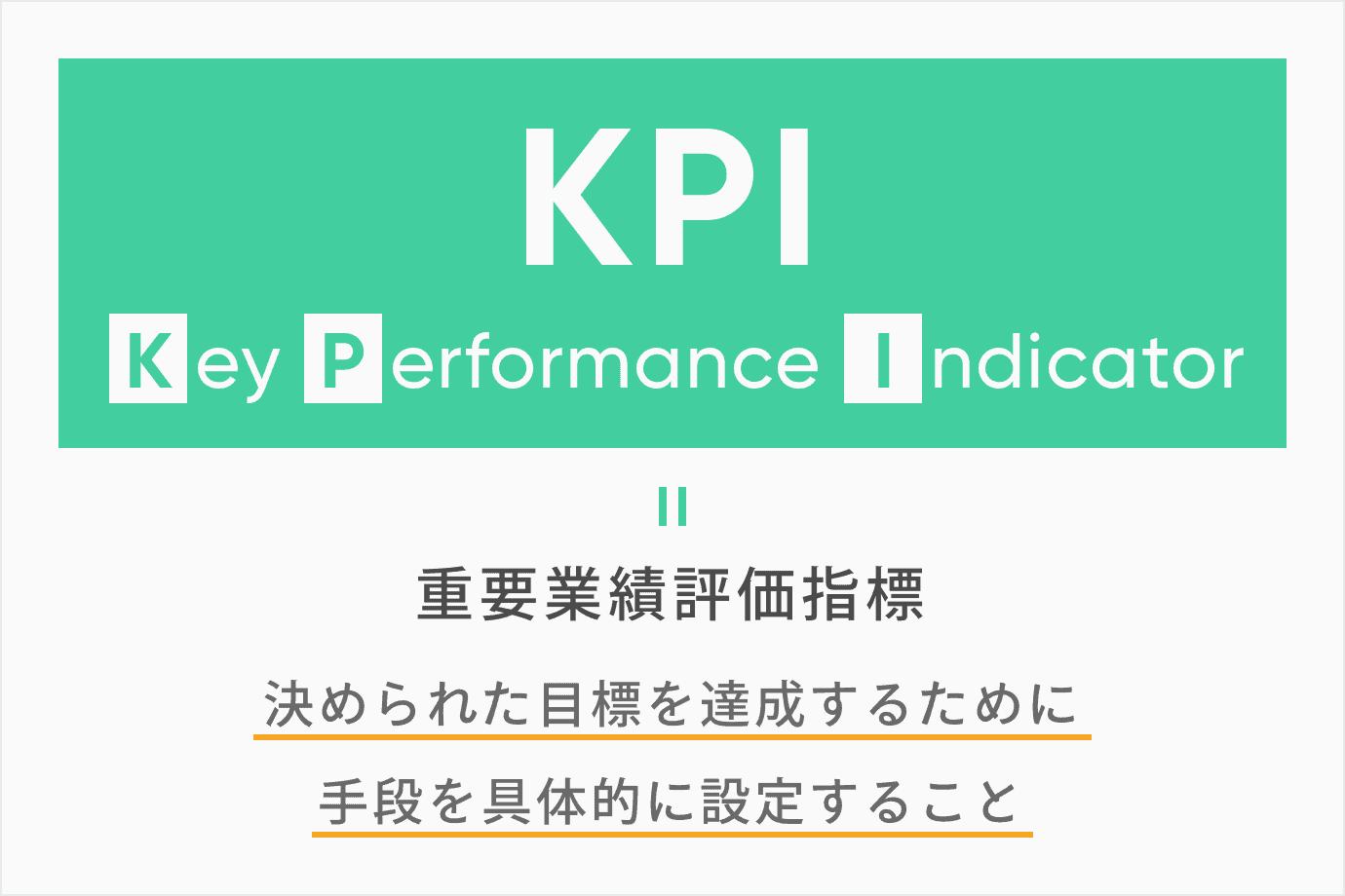 KPIとは「重要業績評価指標」のこと