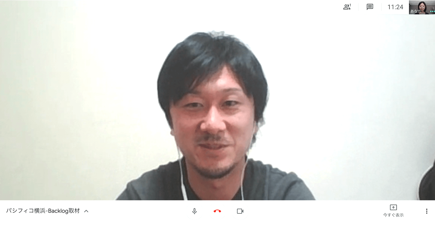 パシフィコ横浜様のBacklog導入事例_今回の松原さんとのBacklog取材もオンラインで実施